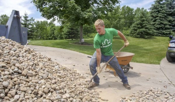Surface rock removal for gardens and lawns
